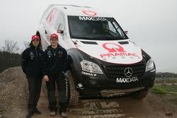 Team MAXDATA Mercedes-Benz: Ellen Lohr and Antonia de Roissard