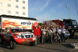 Orlen Team drivers and team members pose