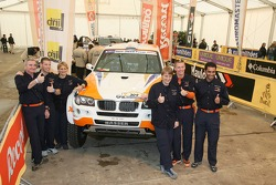 X-raid drivers and co-drivers: Jutta Kleinschmidt, Tina Thorner, Nasser Al Attiyah, Alain Guehennec, Guerlain Chicherit and Matthieu Baumel