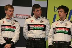 BRDC McLaren Autosport Young Driver Award finalists: Oliver Turvey, Nathan Freke, Jeremy Metcalfe