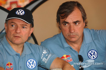 Volkswagen Motorsport press conference: Michel Périn and Carlos Sainz