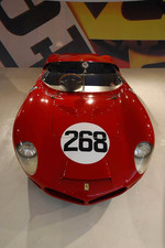A historic Ferrari race car