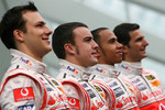 Gary Paffett, Fernando Alonso, Lewis Hamilton and Pedro de la Rosa