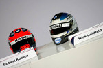 Helmets of Nick Heidfeld and Robert Kubica