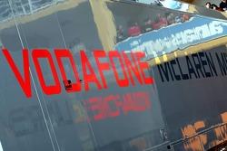 Vodafone McLaren Mercedes transporter