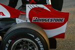 Super Aguri F1 Team interim chassis rear wing detail