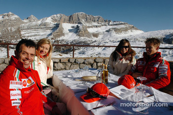 Loris Capirossi with Ingrid, Casey Stoner with Adriana