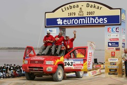 Car category podium: Jean-Pierre Strugo and Yves Ferri