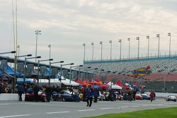 Post practice pit lane