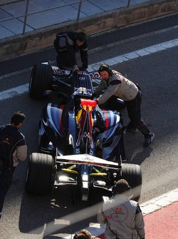 Mark Webber in the new Red Bull Racing RB3