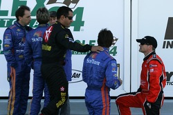 Juan Pablo Montoya, Jeff Gordon and Bobby Labonte