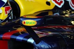 Wing and mirror of a Red Bull Racing