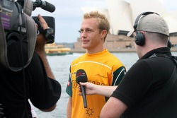 Karl Reindler is interviewed for TV