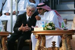 Bernie Ecclestone with Sheikh Hamadan Bin Mohammed Bin Rashid Al Maktoum