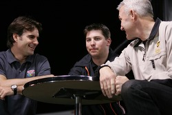 Jeff Gordon, Denny Hamlin and Dale Jarrett