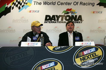 Press conference: Jim Hunter and Robin Pemberton announce that the #24 Dupont Chevy of Jeff Gordon fails technical inspection