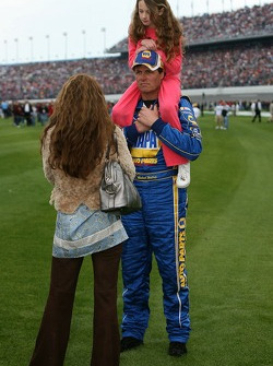 Michael Waltrip with his daugther and wife 'Buffy'