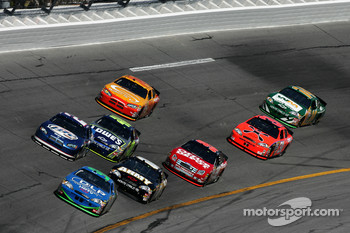 Tony Raines leads a group of cars