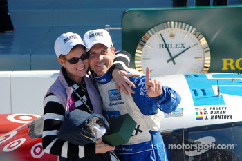 DP Podium: Scott Pruett and wife Judy celebrate