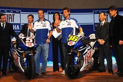 Davide Brivio, Lin Jarvis, Colin Edwards, Valentino Rossi, Masao Furusawa and Luca de Meo