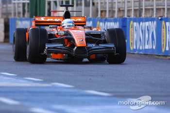 Markus Winkelhock, Test Driver, Spyker F1 Team, F8-VII, New Livery on the Spyker F1 Car