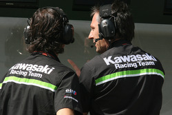 Kawasaki Racing team members at work