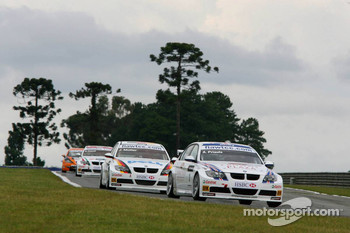 Andy Priaulx, BMW Team UK, BMW 320si WTCC and Jorg Muller, BMW Team Germany, BMW 320si WTCC