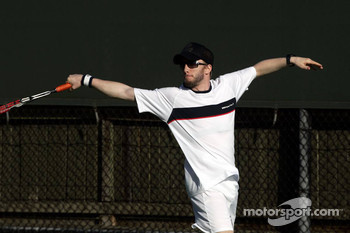 Formula One drivers charity tennis match: Nick Heidfeld, BMW Sauber F1 Team