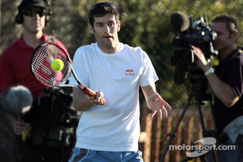 Formula One drivers charity tennis match: Mark Webber, Red Bull Racing