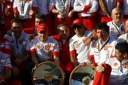 Ferrari Team shot after the race, Kimi Raikkonen, Scuderia Ferrari, Jean Todt, Scuderia Ferrari, Ferrari CEO, Felipe Massa, Scuderia Ferrari