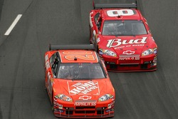 Tony Stewart leads Dale Earnhardt Jr.