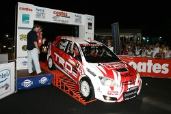 Simon and Sue Evans in the TRD Corolla