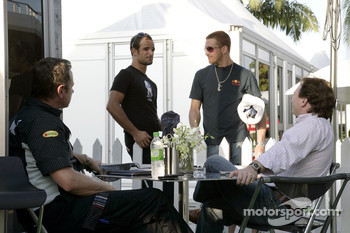 team manager Jonathan Wheatley, Vitantonio Liuzzi, Scott Speed and sporting director Christian Horner