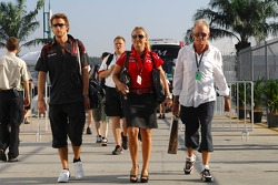 Jenson Button, Honda Racing F1 Team, Jules Kulpinski, Personal-Assistant to Jenson Button and John Button Father of Jenson Button