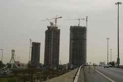 Construction sites in Manama