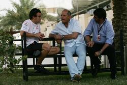Fernando Alonso, McLaren Mercedes, Ron Dennis, McLaren, Team Principal, Chairman and Luis Garcia Abad Manager to Fernando Alonso