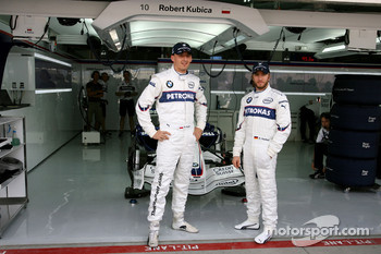 Robert Kubica,  BMW Sauber F1 Team and Nick Heidfeld, BMW Sauber F1 Team