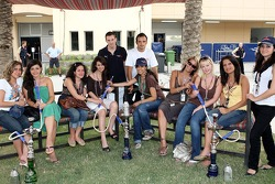 Formula Unas girls with Scott Speed, Scuderia Toro Rosso and Vitantonio Liuzzi, Scuderia Toro Rosso