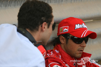 Felipe Massa, Scuderia Ferrari and his manager Nicholas Todt