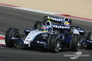 Alexander Wurz, Williams F1 Team, FW29 and Nico Rosberg, WilliamsF1 Team, FW29