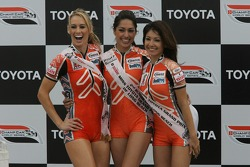 Podium: Miss Grand Prix of Long Beach girls soaked with champagne