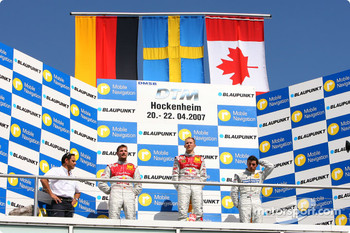 Podium: race winner Mattias Ekström, second place Martin Tomczyk and third place Bruno Spengler
