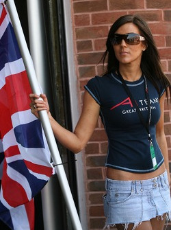 Team Great Britain grid girl