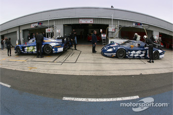 JMB Racing pit area
