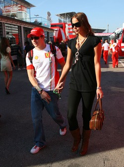 Kimi Raikkonen, Scuderia Ferrari and Jennie Raikkonen, Wife of Kimi Raikkonen,  Formula 1 World Championship, Rd 4, Spanish Grand Prix, Saturday