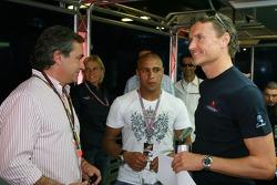 Carlos Sainz, Ex WRC Champion, Roberto Carlos, Real Madrid, Football player and David Coulthard, Red Bull Racing