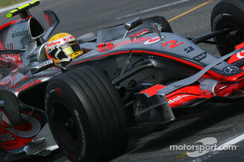 Second place for Lewis Hamilton, McLaren Mercedes