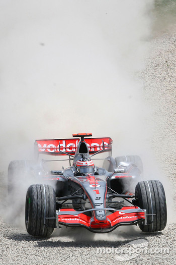 Fernando Alonso, McLaren Mercedes, MP4-22, in the gravel