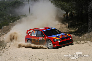 Toni Gardemeister and Jakke Hockanen, MMSP LTD, Mitsubishi Lancer WRC05