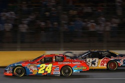 Jeff Gordon (24) and Brian Vickers (83)